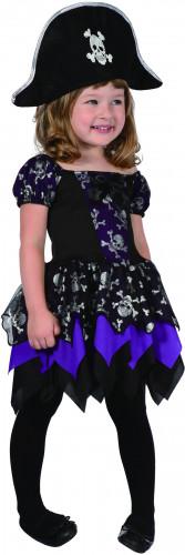 Déguisement pirate violette fille