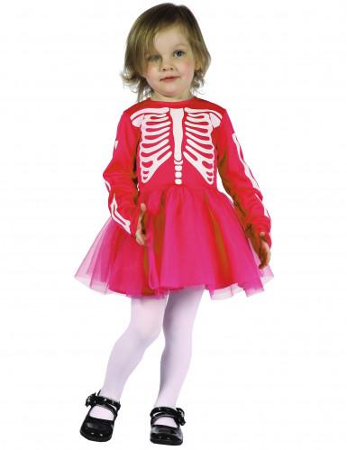 Déguisement squelette rose fille