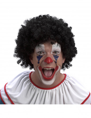 Perruque clown noire adulte