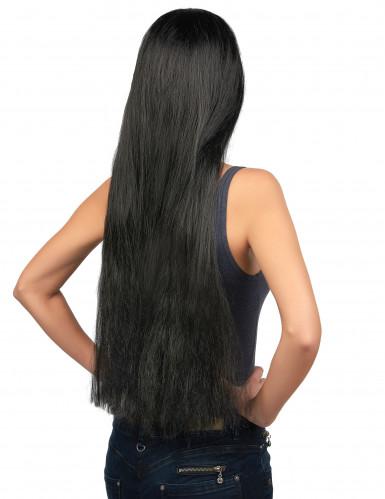 Perruque longue noire femme-1