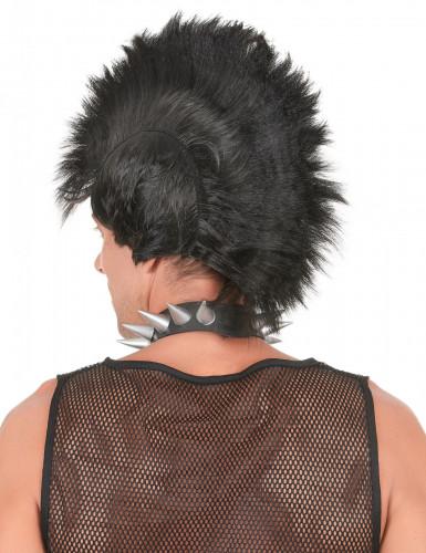 Perruque punk noire homme-1