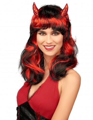 Perruque diablesse rouge femme