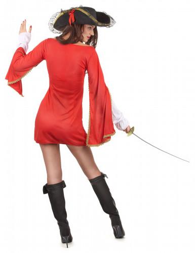 Déguisement mousquetaire rouge femme-2