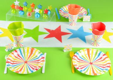 10 Assiettes en carton Cirque 23 cm -1
