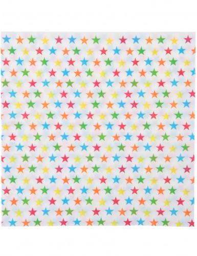 20 Serviettes en papier Etoiles Cirque 33 x 33 cm