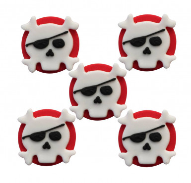 5 Décorations gâteaux en sucre Pirate