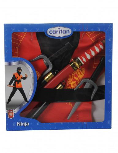 Coffret accessoires ninja rouge-1
