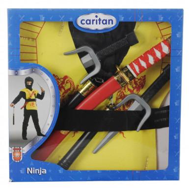Coffret accessoires ninja jaune-1