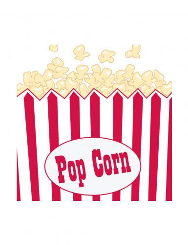 16 Petites Serviettes en papier Pop Corn Hollywood 25 x 25 cm