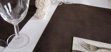 20 Sets de table intissé chocolat
