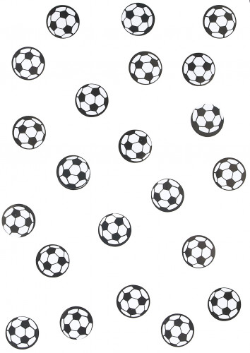 150 confettis de table ballon de foot-1