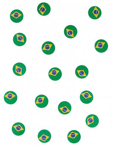 150 confettis de table drapeau Brésil-1