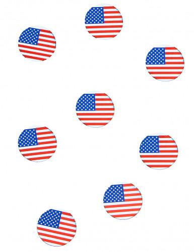 150 confettis de table drapeau USA
