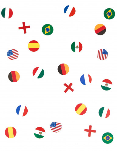 150 Confettis de table drapeau multinations-1