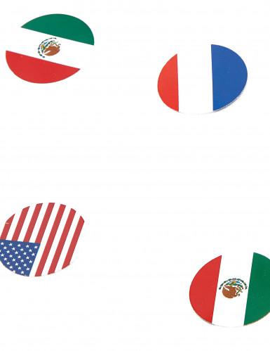 150 Confettis de table drapeau multinations-1