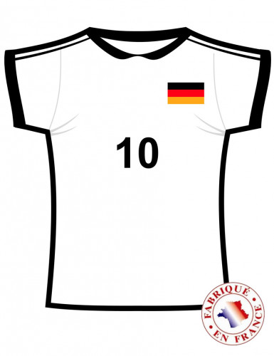 Cut out maillot Allemagne