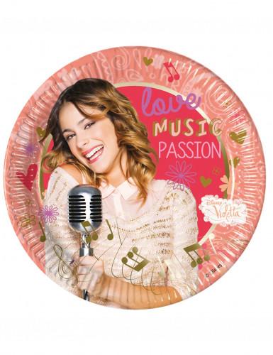 8 Assiettes en carton Violetta passion™ 23 cm