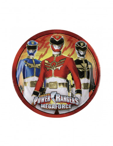 8 Petites assiettes en carton Power Ranger™ 18 cm