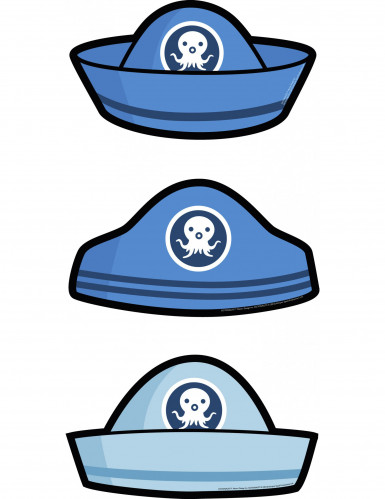 6 Carte d'invitation chapeau Octonauts™