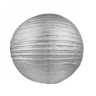 Lanterne japonaise argent 50 cm
