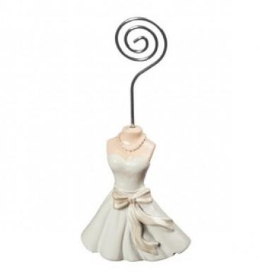 Marque-place robe de mariée