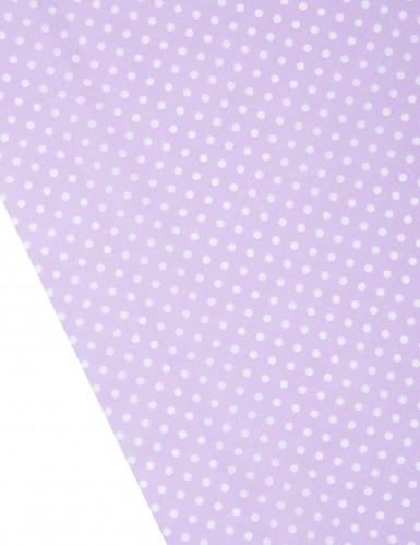 Chemin de table lilas à pois blanc 5m-1