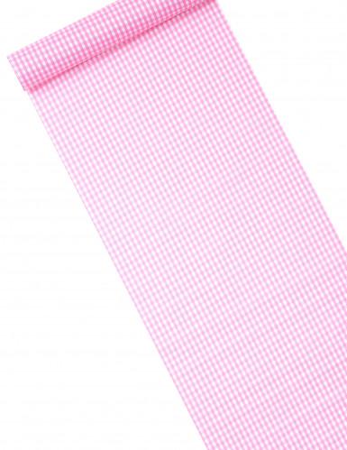 Chemin de table tissu vichy rose 5m