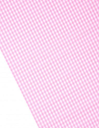 Chemin de table tissu vichy rose 5m-1