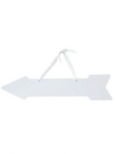 5 Flèches signalétiques blanches avec rubans 42 x 10 cm