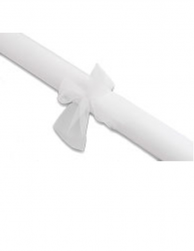 Rouleau tulle uni blanc