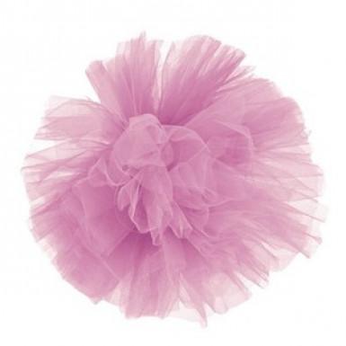 Pompon tulle à suspendre rose 30 cm