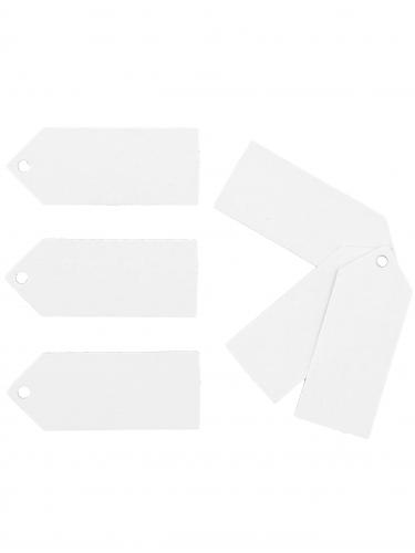 24 Etiquettes blanches 5 x 2 cm