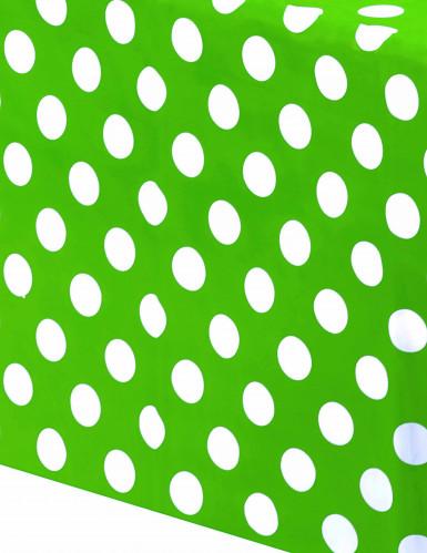 Nappe verte à pois blanc-1