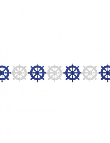 Guirlande papier gouvernails marin 3 mètres