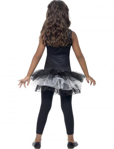 Déguisement squelette tutu noir fille Halloween-2