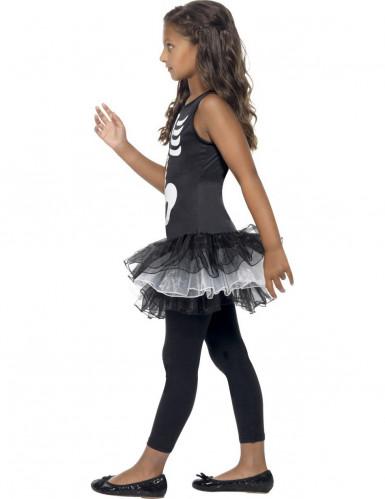 Déguisement squelette tutu noir fille Halloween-1