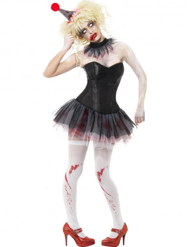 Kit zombie clown femme Halloween