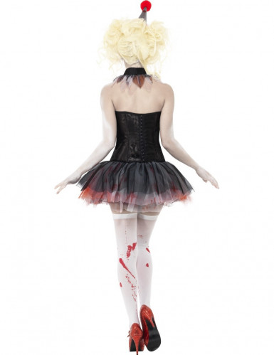 Kit zombie clown femme Halloween-2