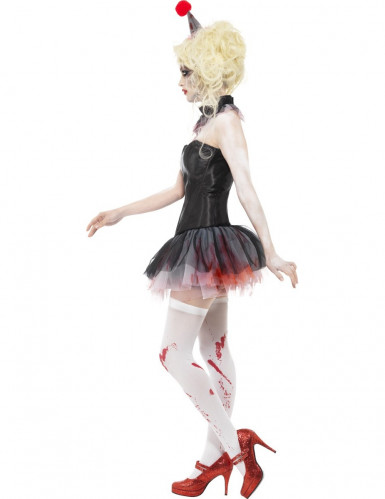 Kit zombie clown femme Halloween-1