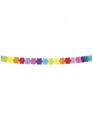 Guirlande multicolore papier fleurs 4 mètres-1