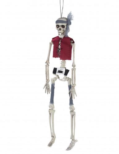 Décoration à suspendre squelette pirate
