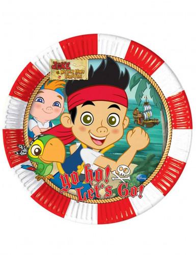 8 Assiettes en carton Jake et les pirates™ 23 cm