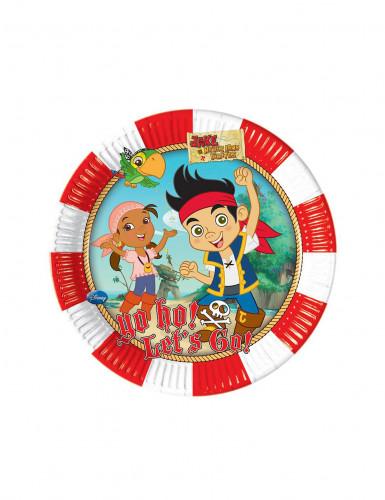 8 Petites assiettes en carton Jake et les pirates™ 20 cm