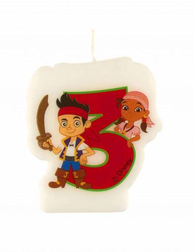 Bougie âge 3 ans Jake et les pirates™