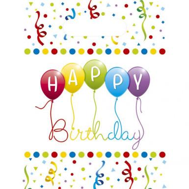 6 Sacs cadeaux Happy birthday