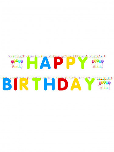 Guirlande lettres articulées Happy birthday