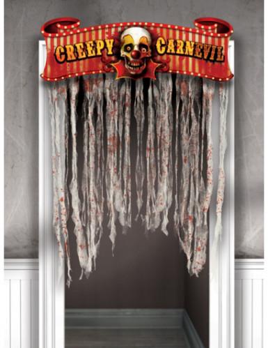 Décoration de porte Cirque halloween