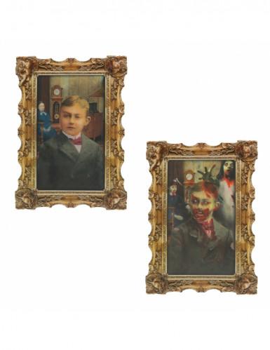Décoration murale portrait halloween