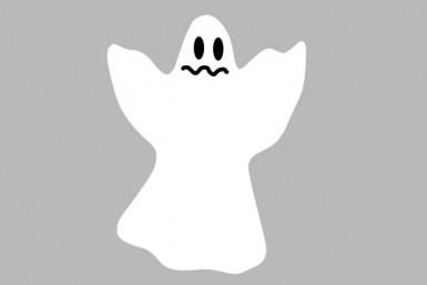 2 Petites décorations petits Fantômes Halloween 6.5 cm