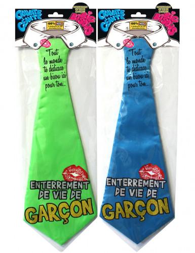 Cravate humoristique enterrement de vie de garçon